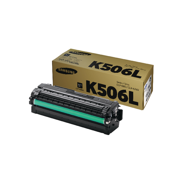 Samsung CLT-K506L Black High Yield Toner Cartridge SU171A