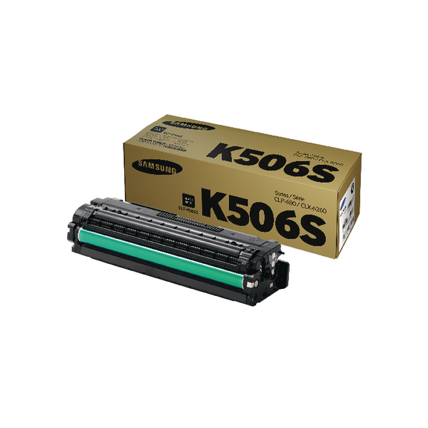 Samsung CLT-K506S Black Standard Yield Toner Cartridge SU180A