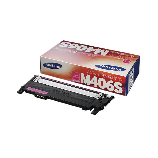 Samsung CLT-M406S Magenta Standard Yield Toner Cartridge SU252A