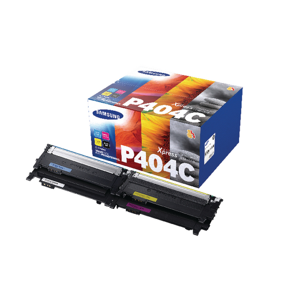 Samsung CLT-P404C CMYK Standard Yield Toner Cartridges (Pack of 4) SU364A