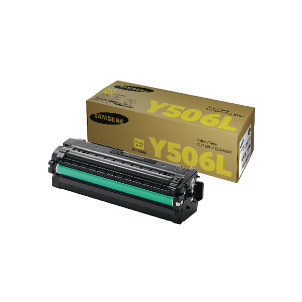 Samsung CLT-Y506L Yellow High Yield Toner Cartridge SU515A