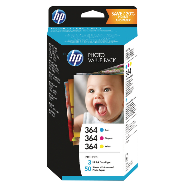 Image for HP 364 Photosmart Photo Value (Pack of 50) Sheets 10x15cm T9D88EE