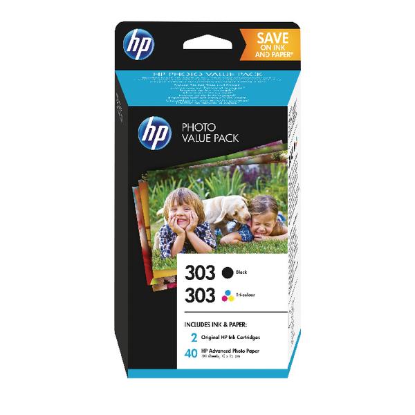 HP 303 Photo Value Pack Black Tricolour 40 Sheets 10 x 15 Z4B62EE