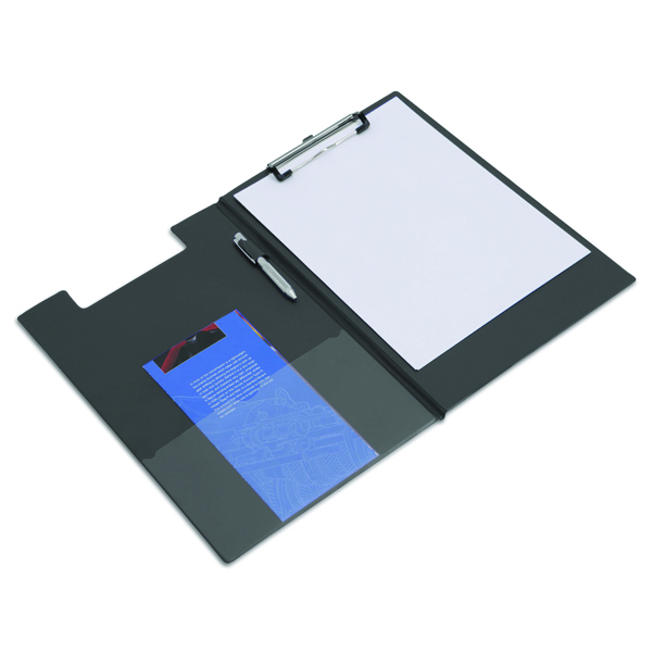 Image for Rapesco Foldover Clipboard Foolscap Black VFDCB0L3