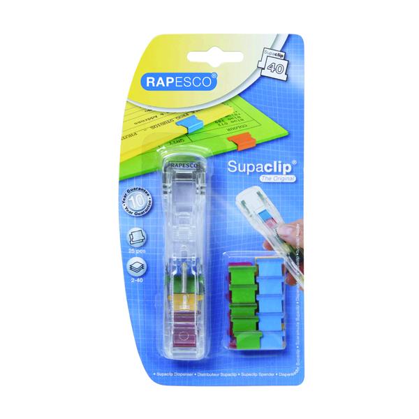 Image for Rapesco Supaclip 40 Dispenser Coloured A25B