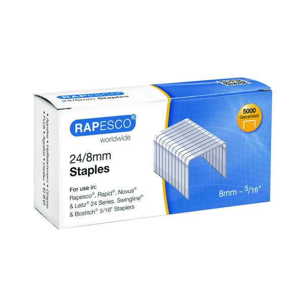 Rapesco 24/8mm Staples (Pack of 5000) S24802Z3