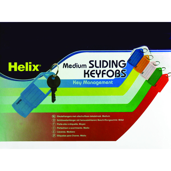 Image for Helix Assorted Sliding Key Fobs Medium (Pack of 50) F34020