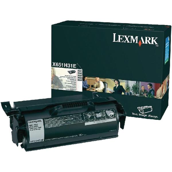 Lexmark X651 Black Return Program Toner Cartridge X651H31E
