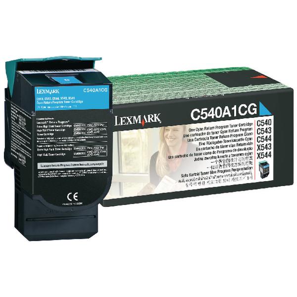 Lexmark Return Programme Cyan Toner C540A1CG