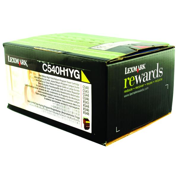 Lexmark Yellow Return Program Toner Cartridge High Capacity C540H1YG