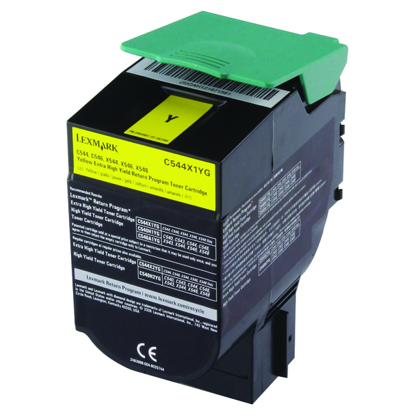 Lexmark Yellow Return Program Toner Cartridge Extra High Yield C544X1YG