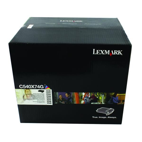 Lexmark Black /Colour C540 Imaging Kit (Pack of 4) C540X74G