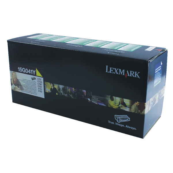Lexmark Yellow Return Program Toner Cartridge 15G041Y