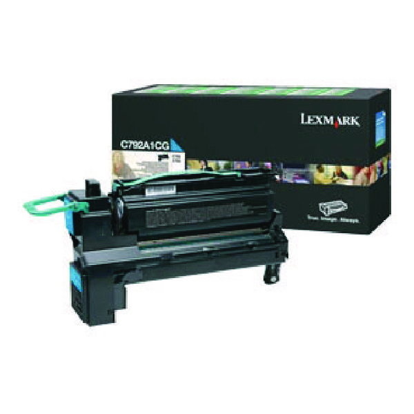 Lexmark C792 Cyan Return Program Toner Cartridge C792A1CG
