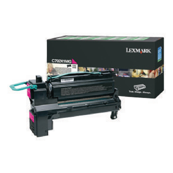 Lexmark C792 Magenta Extra High Yield Toner Cartridge C792X1MG