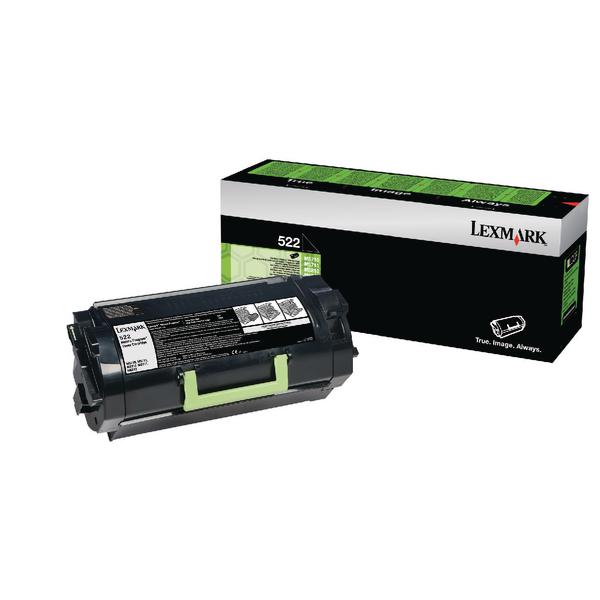 Lexmark 522 Black Toner Cartridge 52D2000