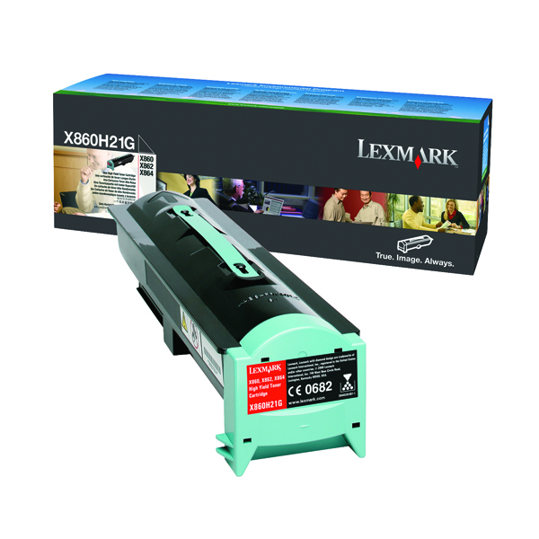 Lexmark Black Toner Cartridge High Capacity X860H21G