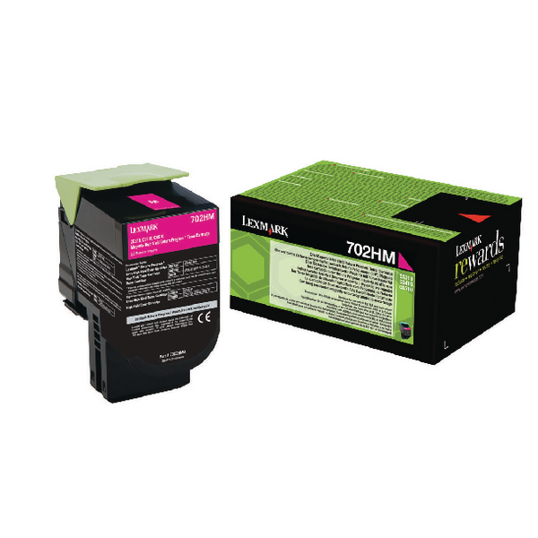 Lexmark 702HM Magenta Toner Cartridge High Capacity 70C2HM0