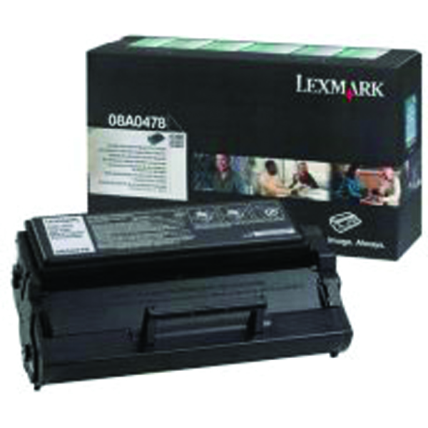 Lexmark High Capacity 08A0478 Black Return Program Toner Cartridge