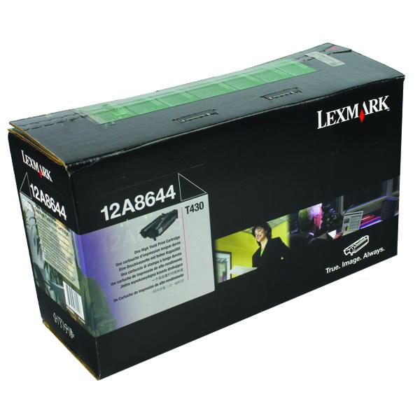 Lexmark Corporate Black High Yield Toner Cartridge 0012A8644