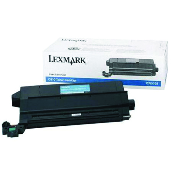 Lexmark C910/912 Cyan Toner Cartridge 14K Yield 12N0768
