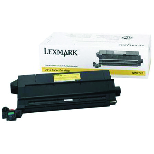Lexmark C910/912 Yellow Toner Cartridge 14K Yield 12N0770