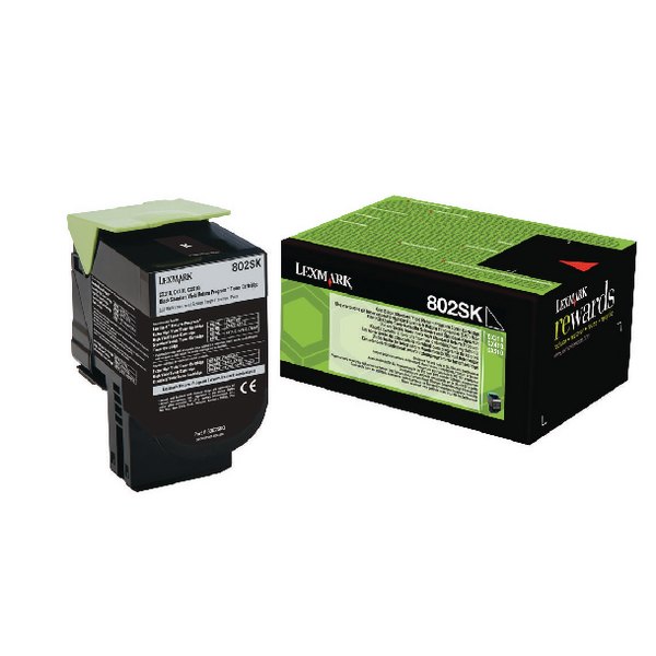 Lexmark 802SK Black Toner Cartridge 80C2SK0