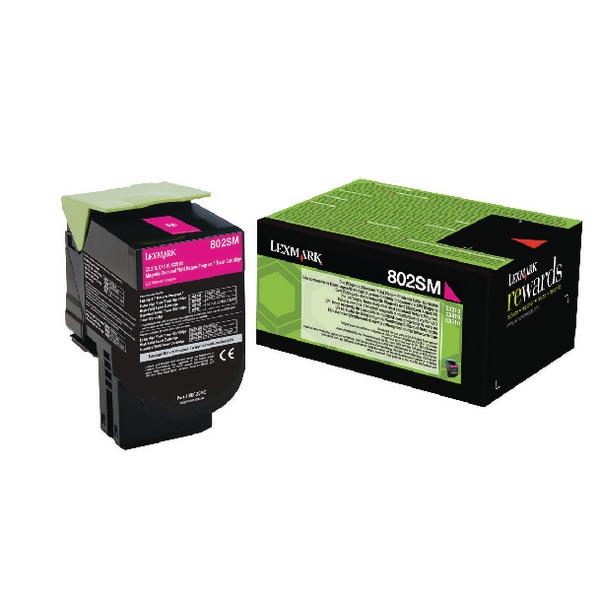Lexmark 802SM Magenta Toner Cartridge 80C2SM0