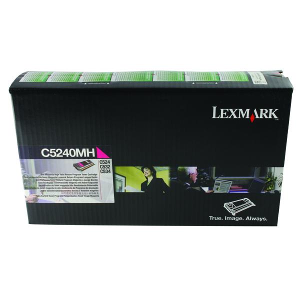 Lexmark Magenta Return Program Toner Cartridge High Capacity C5240MH