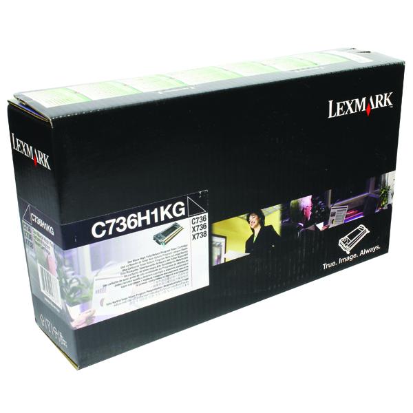 Lexmark High Capacity C736H1KG Black Return Program Toner Cartridge