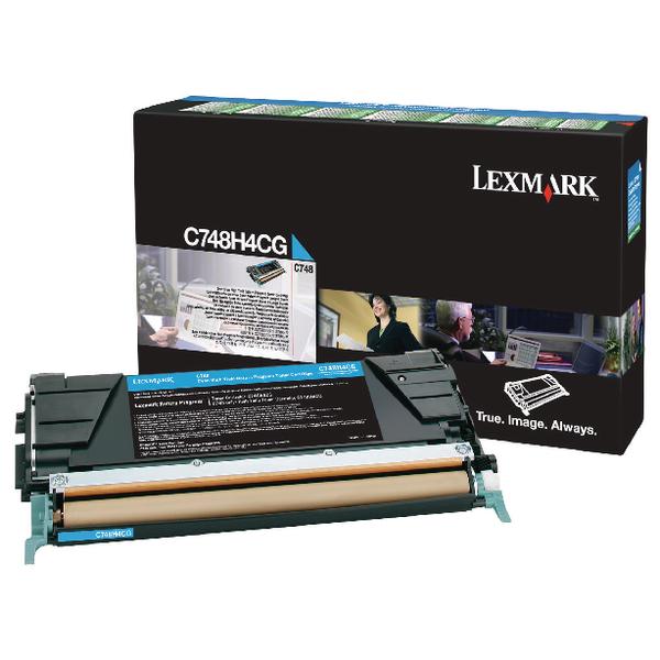 Lexmark Cyan Return Program Toner Cartridge High Capacity C748H3CG
