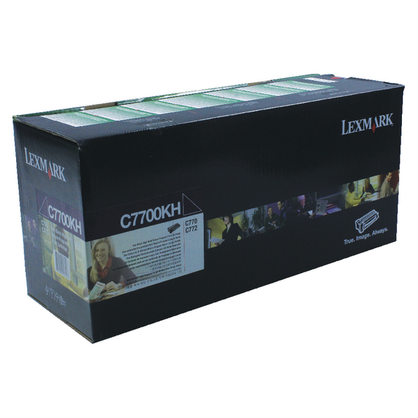 Lexmark High Capacity C7700KH Black Return Program Toner Cartridge