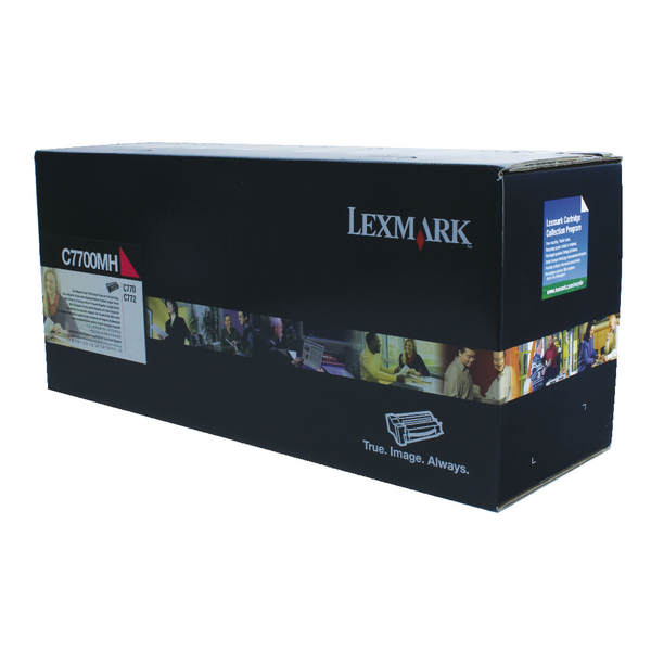 Lexmark Magenta Return Program Toner Cartridge High Capacity C7700MH
