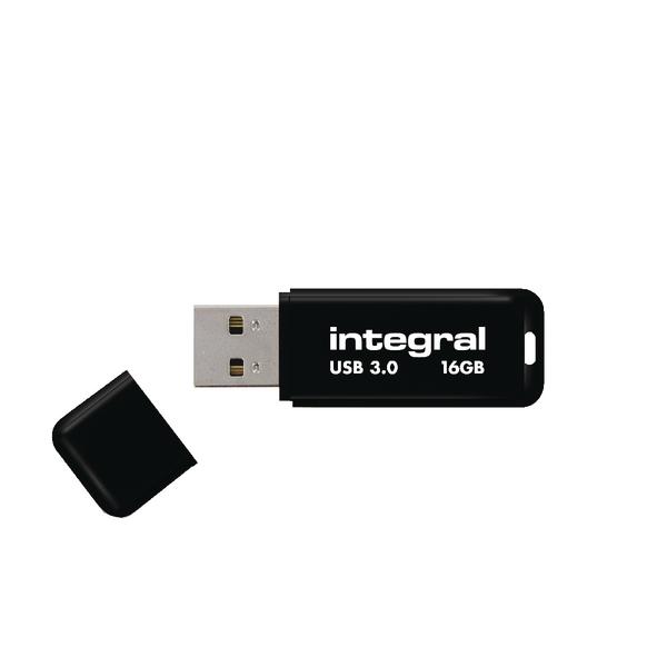 Integral Black Noir USB 3.0 16Gb Flash Drive INFD16GBNOIR3.0