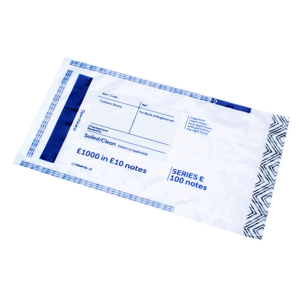 Initial Cash Bags 1000 in 10 Notes (Pack of 500) BEVOMIS0004