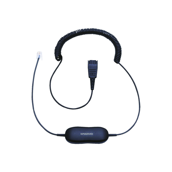 Image for Jabra Black GN1200 CC QD to RJ9 Universal Headset Coiled Cord 88011-99 (0)