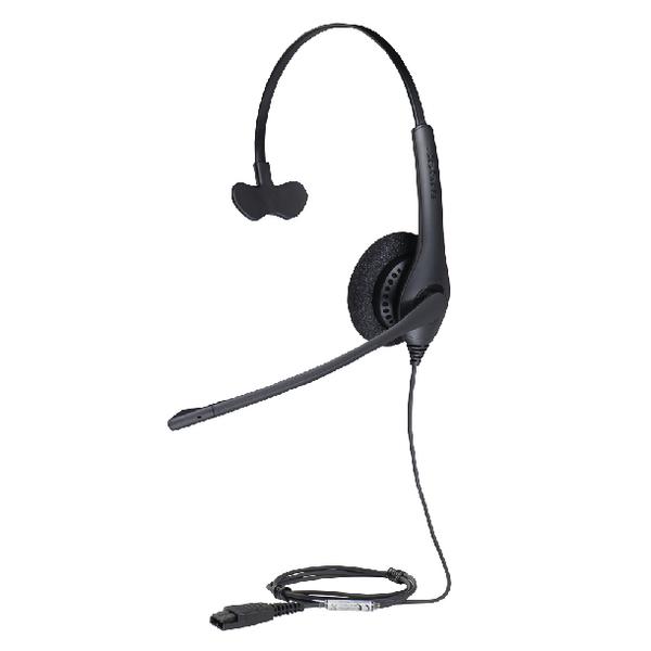 Jabra BIZ 1500 Mono QD Monaural Headset (Peakstop technology keeps sound levels safe) 1513-0154