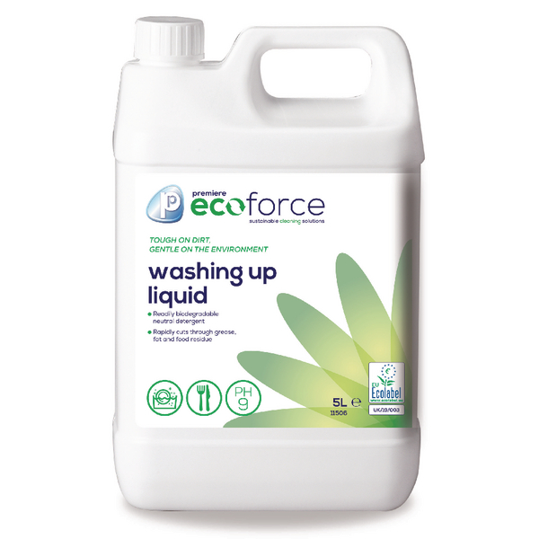 Ecoforce Washing Up Liquid 5 Litre (Pack of 2) 11506