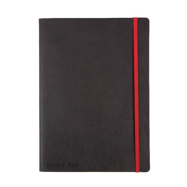 Black n Red B5 Black Soft Cover Notebook 400051203