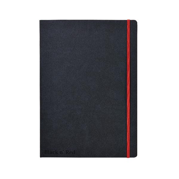 Black n Red A4 Black Casebound Hardback Notebook 400038675