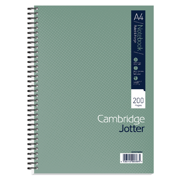 Cambridge A4 Wirebound Notebook Ruled Margin 200 Pages (Pack of 3) 400039062