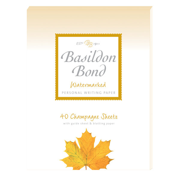 Basildon Bond Writing Pad 137 x 178mm Champagne (Pack of 10) 100101040