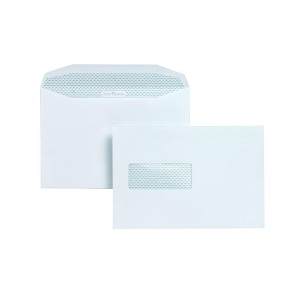 Postmaster Envelope 162x238mm High Window 90gsm Gummed White (Pack of 500) A29984
