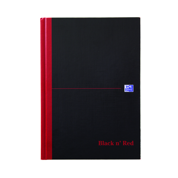 Black n Red A5 Casebound Hardback Single Cash Book (Pack of 5) 100080414