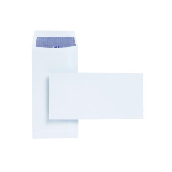 Plus Fabric DL Envelopes Pocket 110gsm Self Seal White (Pack of 500) E25770