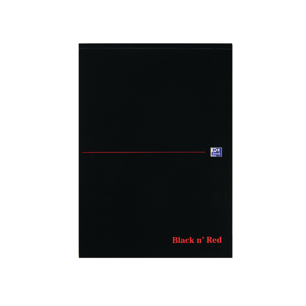 Black n Red A4 Executive Refill Pad Ruled Margin 100 Pages (Pack of 10) 100100861
