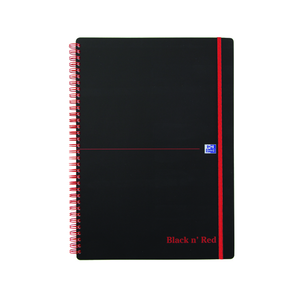 Black n Red Polypropylene Wirebound Notebook 140 Pages A4 (Pack of 5) 846350111