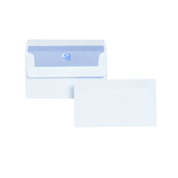 Plus Fabric Envelope 89x152mm 120gsm Self Seal White (Pack of 500) F21870