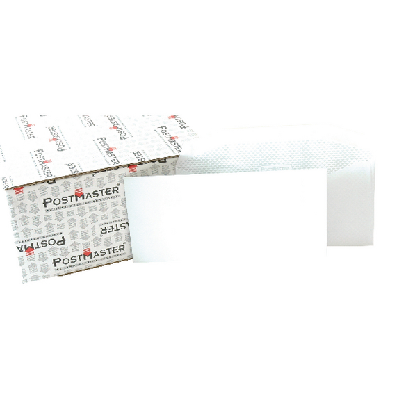 Image for Postmaster Envelope 114x235mm 90gsm Gummed White (Pack of 500) F29151