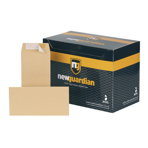 New Guardian DL Envelope Wallet SelfSeal Manilla (Pack of 1000) H25411